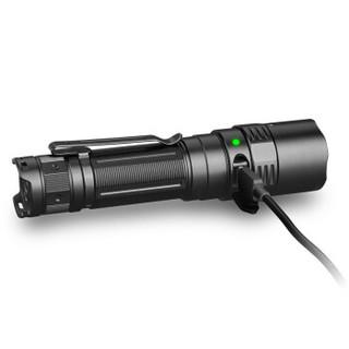 FENIX手电筒强光铁路手电远射充电家用多功能探照灯 PD40RV2.0黑色3000流明