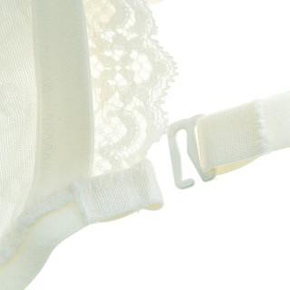 爱慕Aimer文胸微花之恋3/4罩杯抹胸聚拢收副乳大码女士内衣 AM15JE1米白色A75