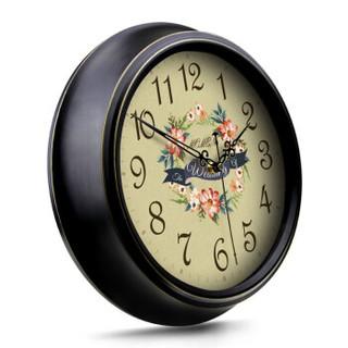 摩门(momen) 欧式挂钟 复古静音仿古客厅挂表壁钟卧室时钟石英钟F9