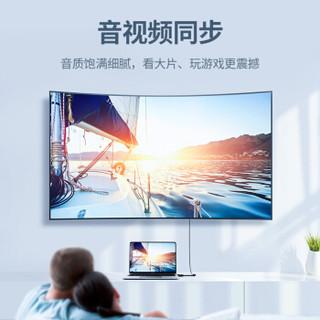 绿联(UGREEN)Mini DP转HDMI转换器线 4K高清雷电转接头 支持苹果微软Surface笔记本电脑接投影仪 白40361
