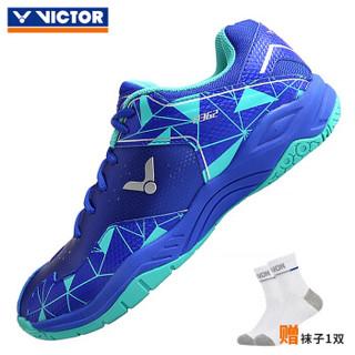 VICTOR威克多 胜利羽毛球鞋 A362FR耀眼蓝/水绿+凑单品