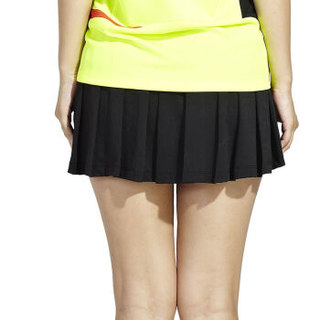 川崎KAWASAKI羽毛球服装女士新款运动短裙打底裤裙防走光修身透气黑色SK-14266 L