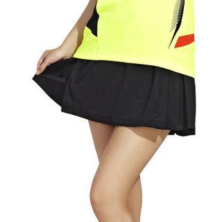 川崎KAWASAKI羽毛球服装女士新款运动短裙打底裤裙防走光修身透气黑色SK-14266 3XL
