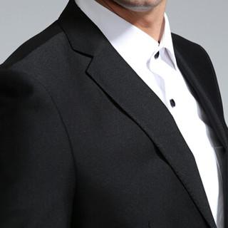 安其罗扬(ANGELOYANG)男士西服套装 男款韩版商务休闲职业装修身西装套装企业按需制作 608 黑色 L/175B