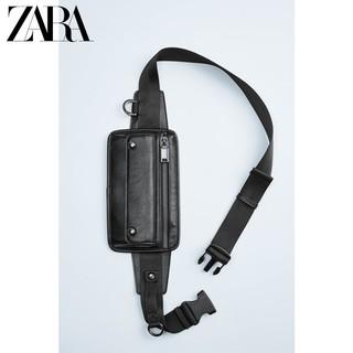 ZARA 13601520040 男包黑色腰包斜挎包