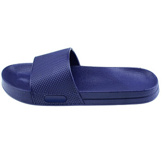 御乐 凉拖鞋男女款居家浴室防滑一字拖户外拖鞋 YT836 蓝色 40码