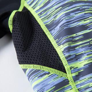 三奇(SANQI)泳衣女显瘦分体保守裙式遮肚小胸聚拢学生大码温泉性感游泳装 17031绿色L