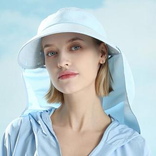 杜森纳(DUSENNA)带冰袖防晒帽子女夏护颈太阳帽户外运动骑行防紫外线遮阳帽透气口罩 遮面遮阳帽 浅蓝色
