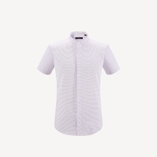 HLA 海澜之家 HNECJ2E137AD7 男士条纹短袖衬衫