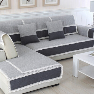 FOOJO编织棉质沙发垫沙发盖巾90cm*180cm