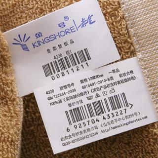 金号 毛巾家纺 纯棉素色浴巾 单条装 棕1 320g 120*62cm