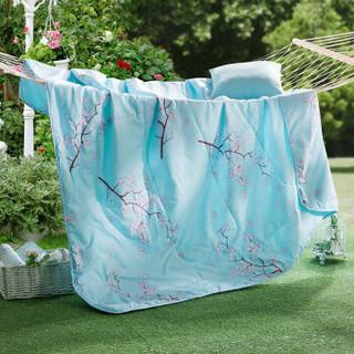迎馨 被芯家纺 可水洗机洗夏被夏凉被空调被 韩版夏天薄被子 150*210cm 旖旎花语