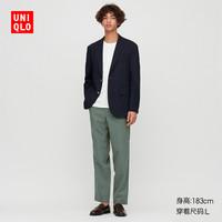 UNIQLO 优衣库 425148 男士棉麻混纺休闲裤