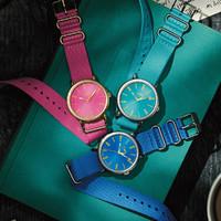 天美时 新款时尚色彩女士石英手表防水手表女