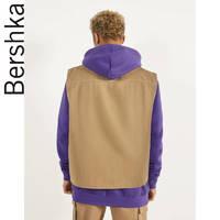 Bershka男士 2020新款双面穿绗缝牛仔背心潮流马夹 02915590700