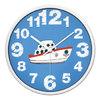 摩门(Momen)挂钟 卧室静音挂表儿童房石英钟卡通小轮船钟表壁钟14英寸 HE0162 金属白