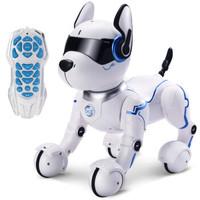活石 儿童玩具智能机器人机器狗电动遥控可倒立翻滚男孩玩具 智能特技狗