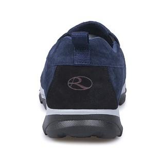 荣仕 RONGSHI 老人防滑软底健步中老年爸爸男士旅游运动休闲一脚蹬鞋 深蓝色(男款) 40