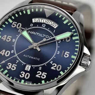 HAMILTON 汉米尔顿 卡其航空系列 H64615545 男士机械腕表
