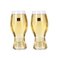 1950纯手工吹制480ml无铅水晶玻璃啤酒杯套装家用可乐杯扎啤杯菠萝杯2支