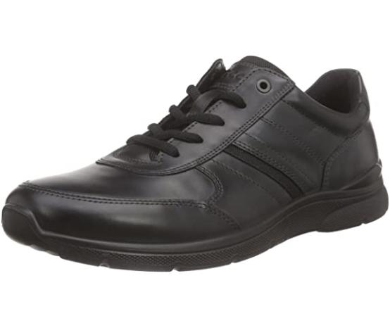 ecco 爱步 欧文系列系带平底男士休闲鞋运动鞋 Black UK 6
