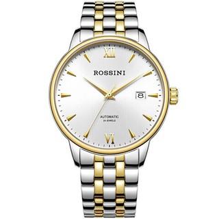 ROSSINI 罗西尼  雅尊商务系列 517773T01E 自动机械情侣表-男表 间金 钢带 日历