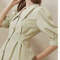 FANSILANEN Z201115 女士泡泡袖衬衫