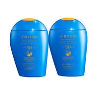 Shiseido 资生堂 新艳阳夏臻效水动力防晒乳液 蓝胖子 SPF50+ 150ml*2瓶