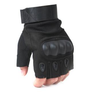 北诺(BETONORAY)半指手套男户外休闲健身战术手套女骑车骑行跑步运动手套 盔甲款黑色 L码