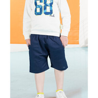 迪士尼 男童清凉亚麻七分裤 藏青 110 +凑单品