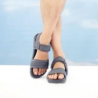 新款2020年夏季男士休闲百搭魔术贴运动凉鞋学生潮流厚底沙滩鞋 *2件