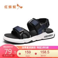 红蜻蜓 夏季时尚潮流百搭舒适凉鞋男士沙滩鞋WTL91511X/12X/13X 兰色 38