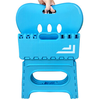沃特曼Whotman 儿童折叠椅塑料折叠凳便携式家用小椅子创意小板凳WD2956