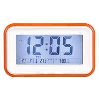 喜诺臣(XNCh)闹钟创意静音夜光床头电子钟座钟 懒人贪睡学生儿童小闹钟830-1橙色