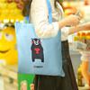 欣沁 旅行收纳袋熊本熊便捷可折叠购物袋手提袋买菜环保袋单肩包 蓝色