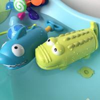 KIDNOAM 衾美  儿童洗澡玩具 抽拉喷水 鳄鱼鲨鱼