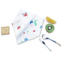 Temami婴儿纯棉双层口水巾随机色3条装