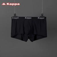 Kappa/卡帕青年男士内裤 男四角底裤莫代尔夏季中腰舒适优雅性感透气情侣平角男内裤 黑色 180