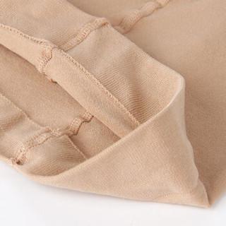 浪莎打底裤 女士春秋保暖裤400D细滑米兰绒中厚加裆连裤袜2条装 黑色 均码