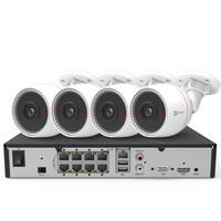 海康威视萤石200万POE监控设备套装X5S+C3T 8路6T硬盘 4台1080P家用商用高清摄像头系统监控器