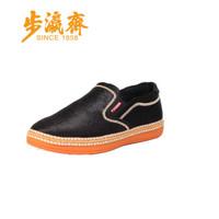 步瀛斋 传统布鞋 老北京男中国风 平底防滑 A68-11 黑色 43
