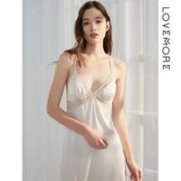 lovemore LHY241040W 女士桑蚕丝吊带睡裙