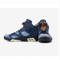 Air Jordan 6 Washed Denim aj6 CT5350 水洗丹宁男子篮球鞋