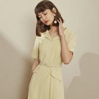 范思蓝恩 Z201000 女款中长款连衣裙