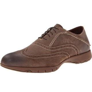 Hush Puppies 暇步士 FIVE-Brogue 男款休闲皮鞋 休闲皮鞋 Tan Suede US10.5