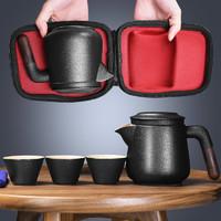 旅行茶具套装便携式包一壶两二四杯快客杯陶瓷功夫随身户外泡茶壶