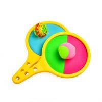 儿童玩具 抛接球吸盘 黄色手掌粘靶盘+1软球+1吸盘球