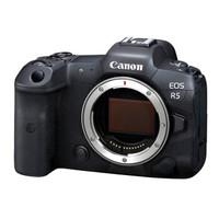 24期免息:Canon 佳能 EOS R5 全画幅 微单相机 黑色 单机身