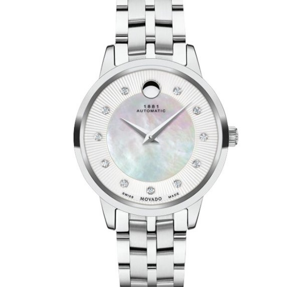 MOVADO 摩凡陀 1881系列 0607486 女士自动机械手表