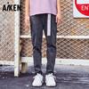 爱肯 Aiken 2019春季新款 男装牛仔长裤AK119201302 牛仔中灰32